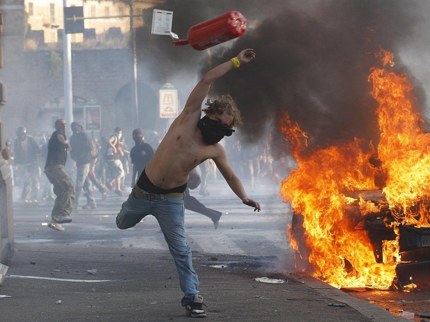 Protest w Rzymie