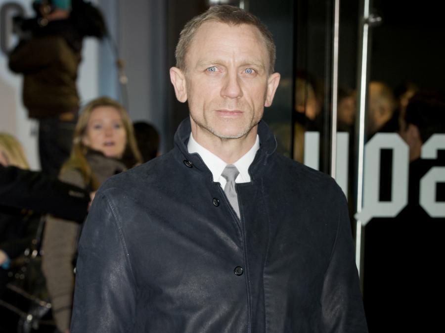 Daniel Craig na premierze w Londynie