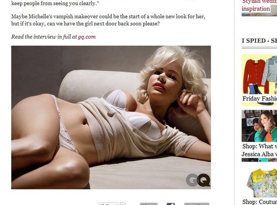 """Michelle Williams jako Marilyn Monroe w sesji zdjęciowej dla magazynu """"GQ"""". Źródło: telegraph.co.uk"""