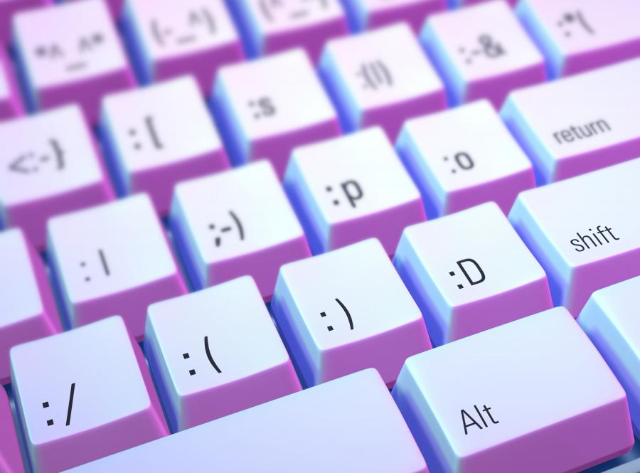 Emotikonowa klawiatura komputera