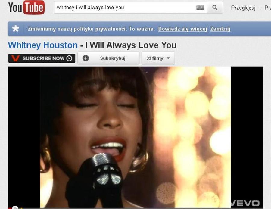Whitney Houston w najsłynniejszym teledysku