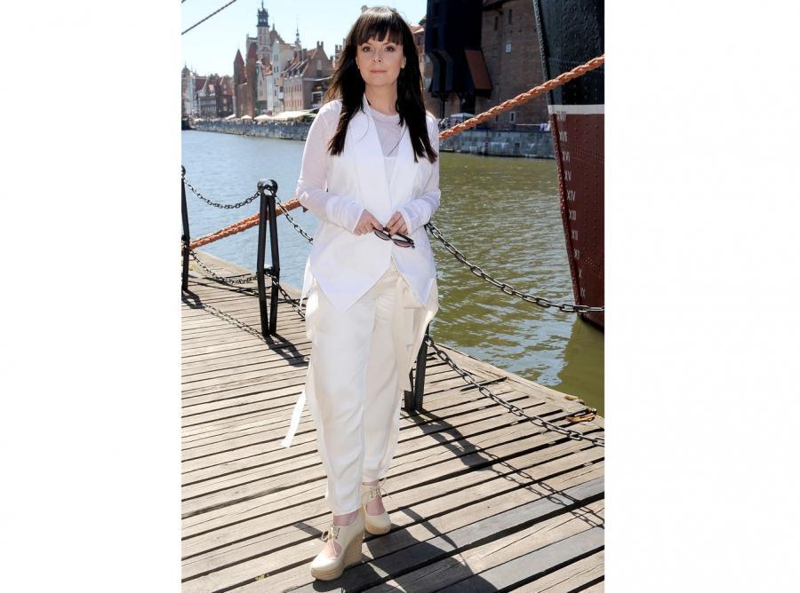 Kandydatki na modelki ocenia także dziennikarka Karolina Korwin-Piotrowska