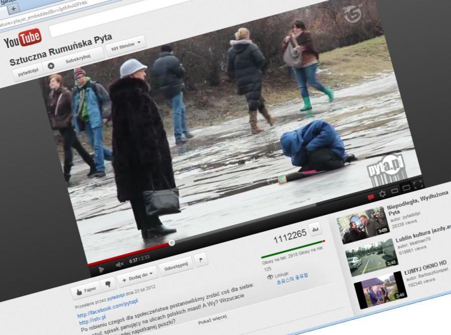 Prowokacja z żebraczką na ulicach Warszawy