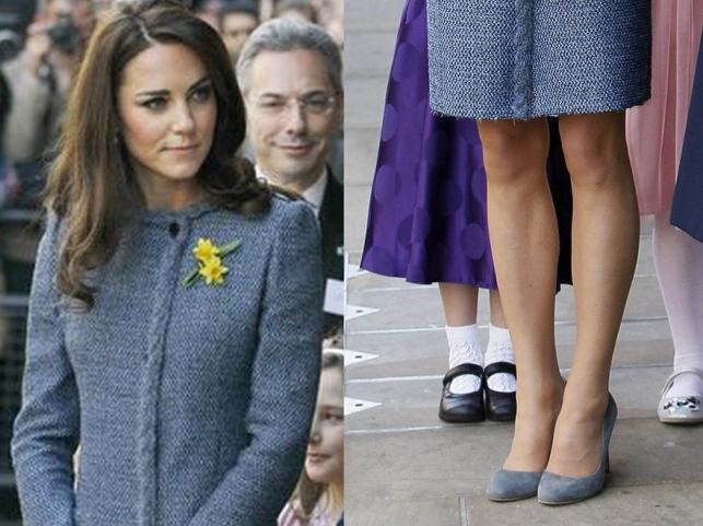 Wpadka księżnej Catherine! Postrzępiony płaszcz i… por przy kreacji