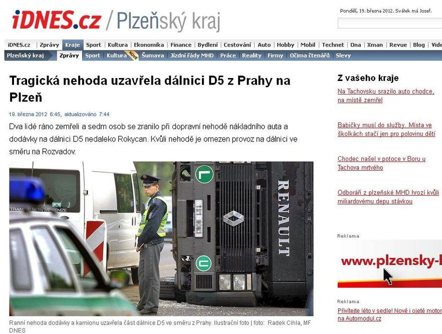 Karambol na czeskiej autostradzie. Dwóch Polaków nie żyje
