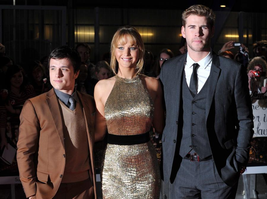 Josh Hutcherson, Jennifer Lawrence i Liam Hemsworth