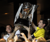 Real Madryt z pucharem za mistrzostwo Hiszpanii