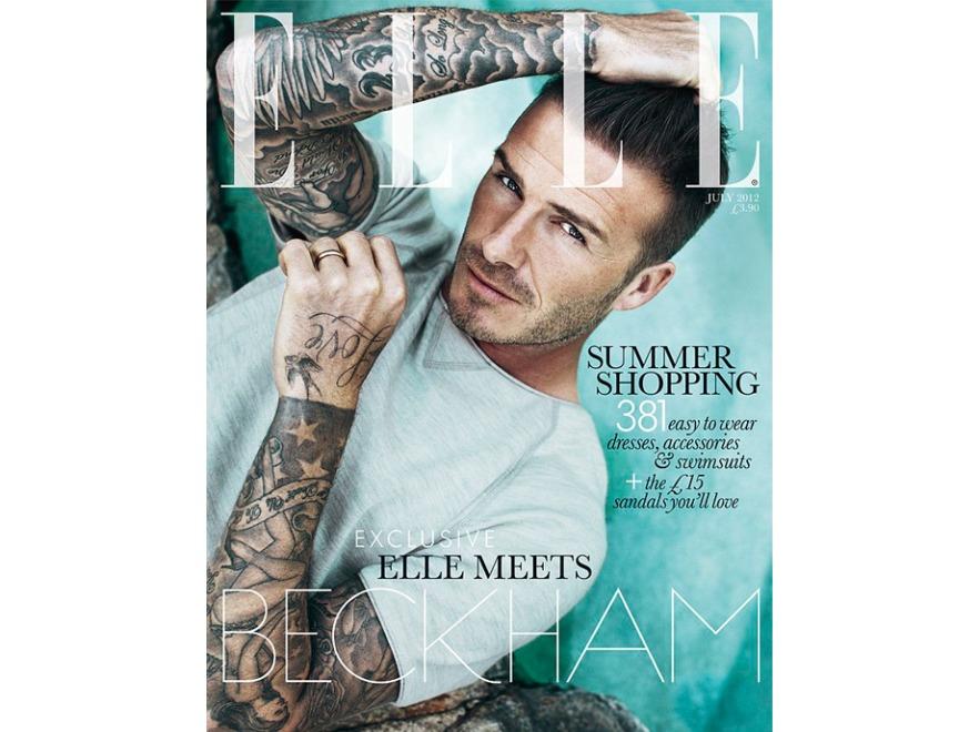 David Beckham na okładce brytyjskiego Elle - czerwiec 2012