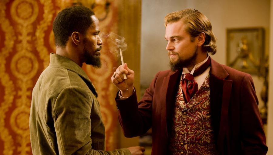 Jamie Foxx i Leonardo DiCaprio w \