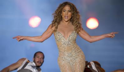 Jennifer Lopez podczas koncertu w Sao Paulo
