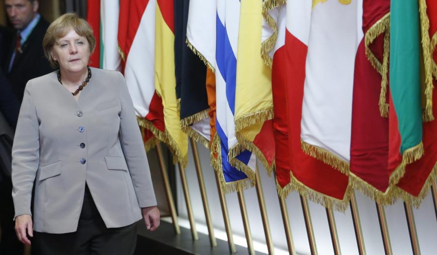 Kanclerz Niemiec Angela Merkel na szczycie Unii Europejskiej w Brukseli