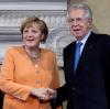 Angela Merkel i premier Włoch Mario Monti
