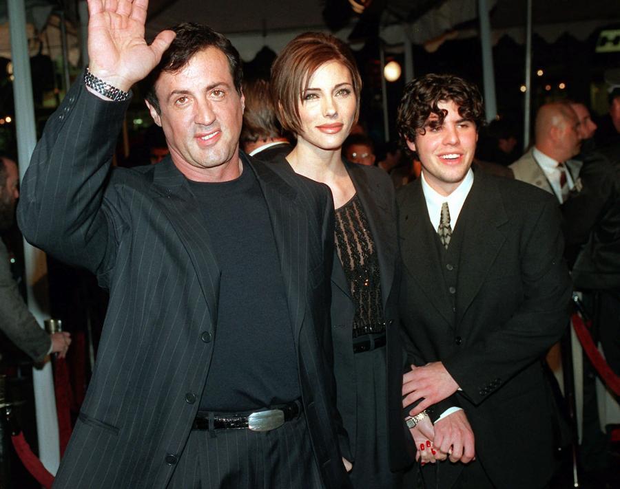 Sylvester Stallone z żoną i synem Sage\'m