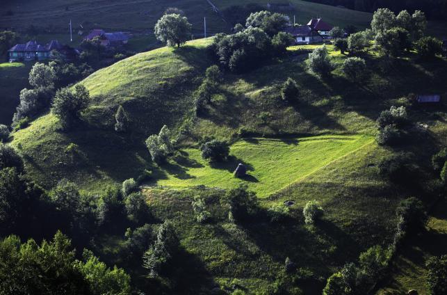 Krajobrazy w wiosce Magura w rumuńskiej Transylwanii