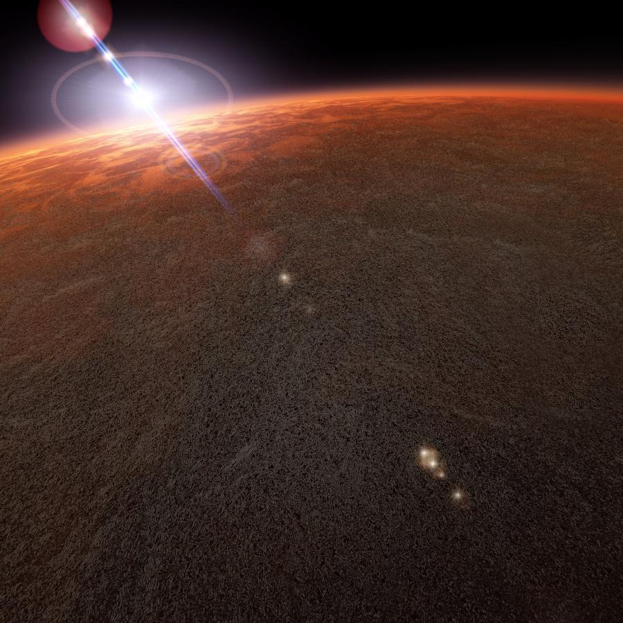 Mars widziany z orbity