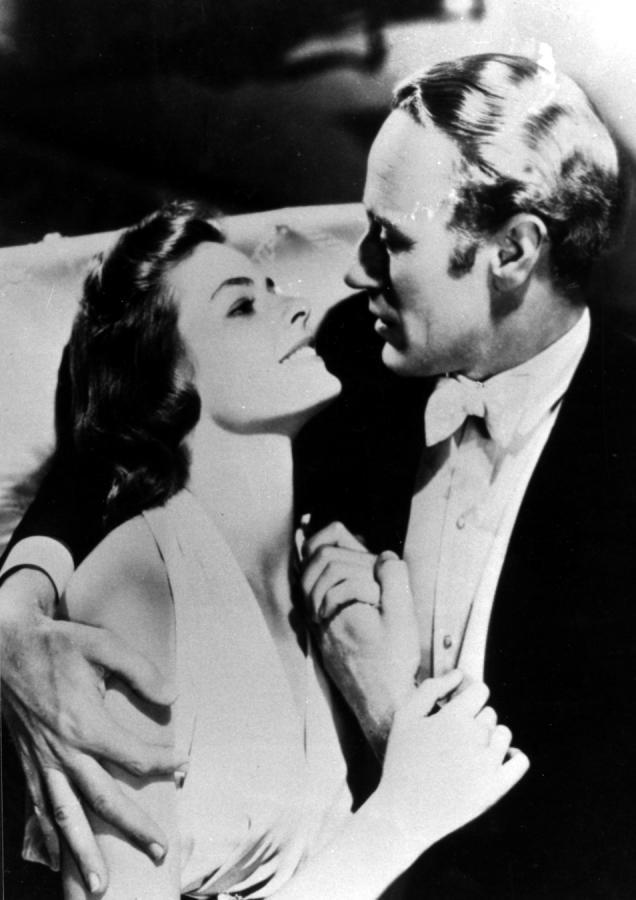 "Ingrid Bergman i Leslie Howard w filmie ""Intermezzo"""