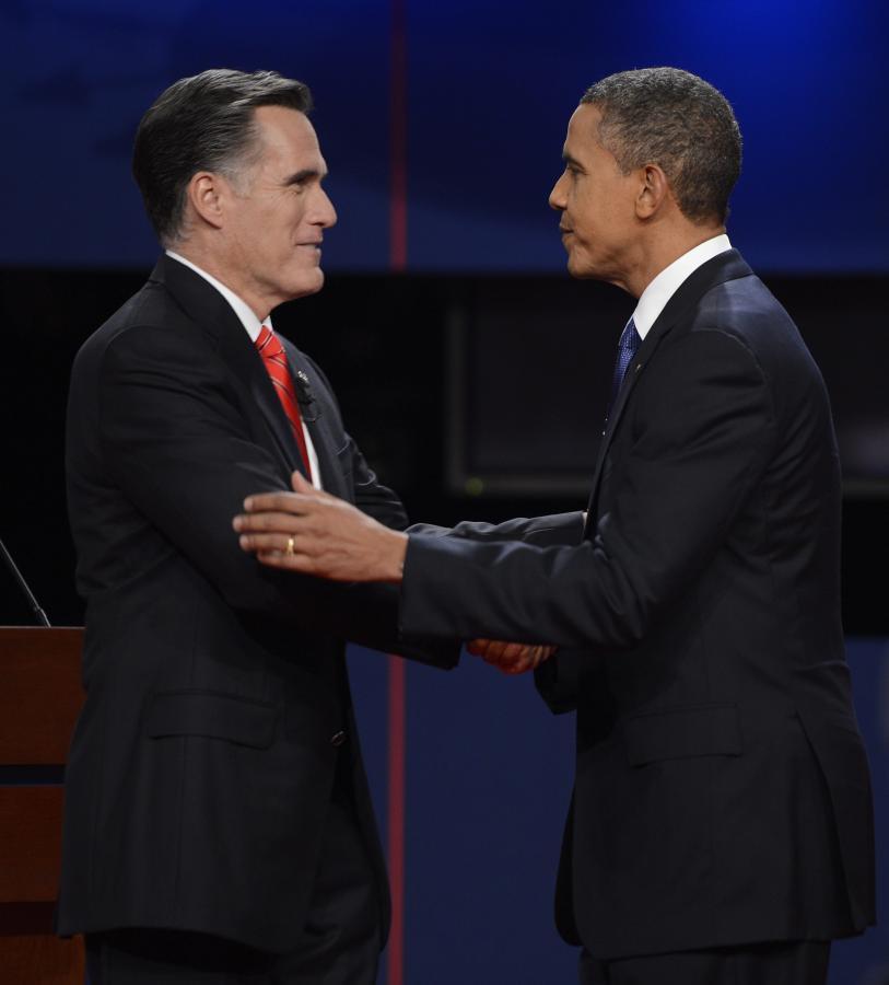 Mitt Romney i Barack Obama