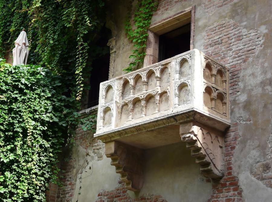 Słynny balkon Julii w Weronie