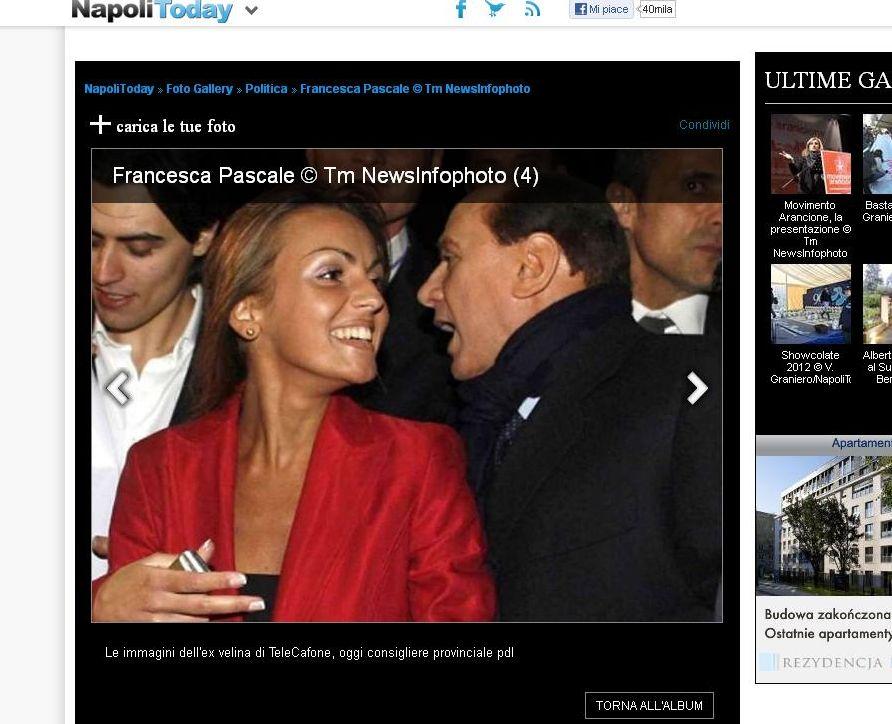 Berlusconi z narzeczoną