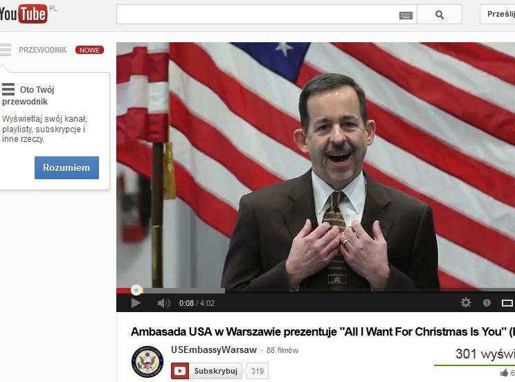 Ambasador USA składa życzenia