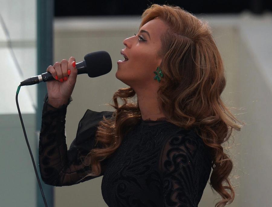 Beyoncé podczas inauguracji drugiej kadencji prezydenckiej Baracka Obamy