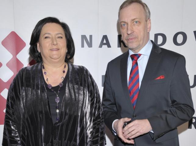 Anna Komorowska i Bogdan Zdrojewski