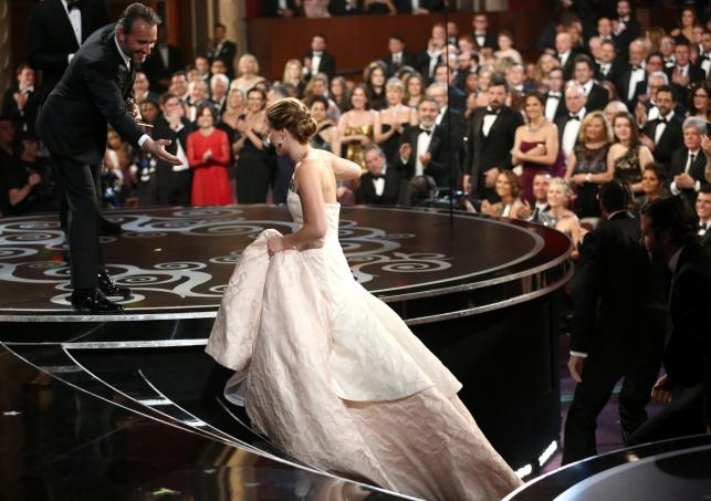 Jennifer Lawrence na gali Oscarów 2013