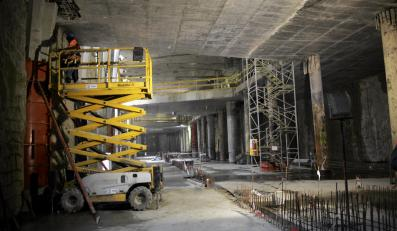 Budowa stacji metra Stadion