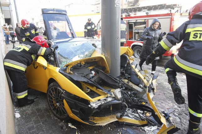 Lamborghini gallardo rozbite w Sopocie