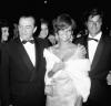 Claudia Cardinale, Luchino Visconti i Jean Sorel na festiwalu w Wenecji (1965)