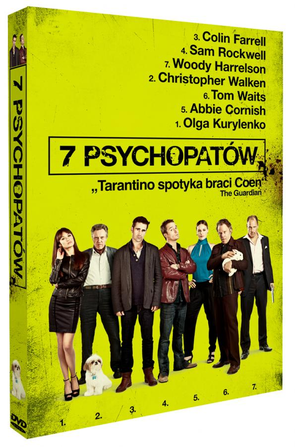 """""""7 psychopatów"""" jużna DVD"""