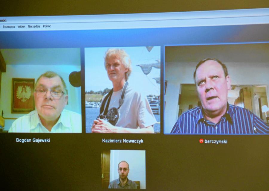 (Od lewej) dr inż. Bogdan Gajewski, dr Kazimierz Nowaczyk i dr Wacław Berczyński