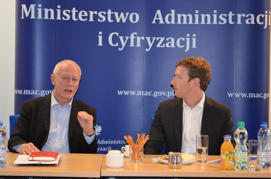 Michał Boni i Mark Zuckerberg