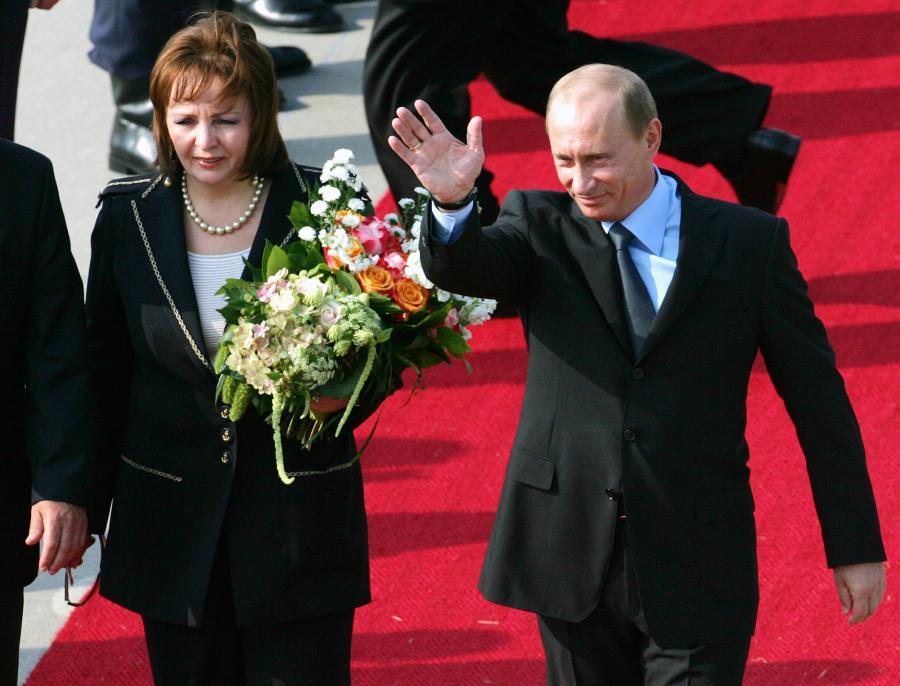 Władimir Putin i jego żona, Ludmiła