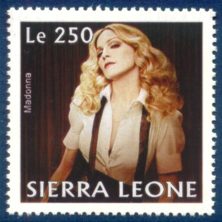 Madonna na znaczkach pocztowych