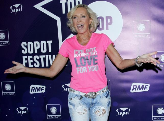 Helena Vondráčková za kulsami Sopot TOP of the TOP Festival 2013