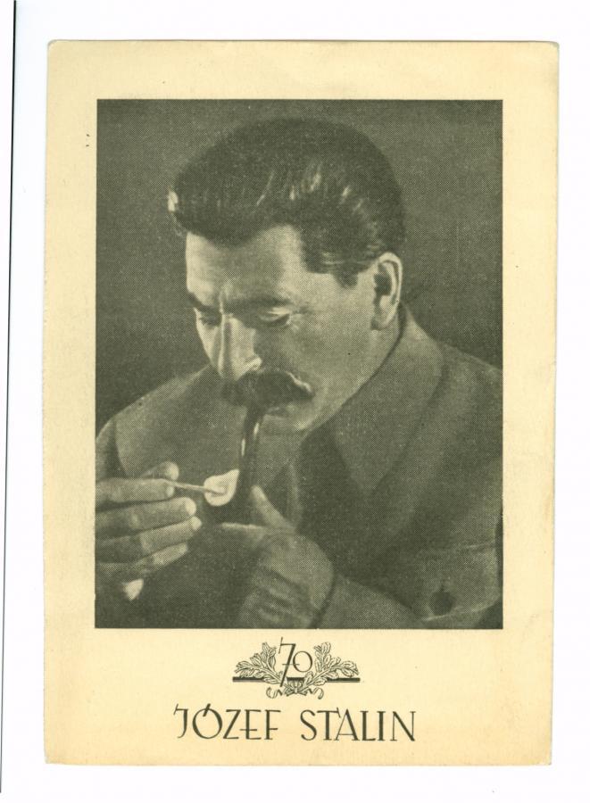 Karta pocztowa 1949 r. (ze zbiorów MHK)