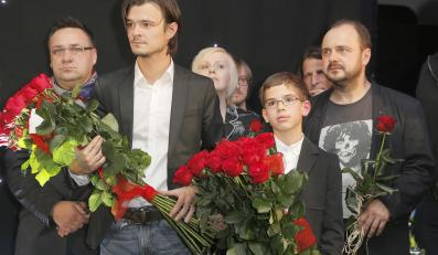 Kamil Tkacz, Dawid Ogrodnik i Arkadiusz Jakubik