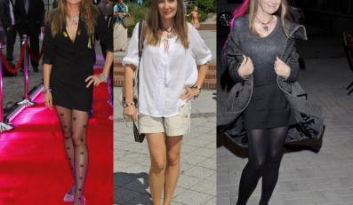 Beata Pawlikowska w stylizacjach odsłaniajcych nogi