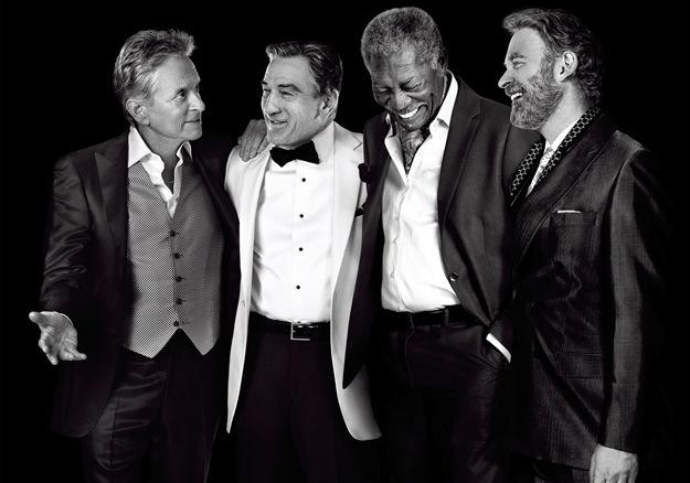 """Jedyny taki kwartet z """"Last Vegas"""": Douglas, De Niro, Freeman i Kline"""