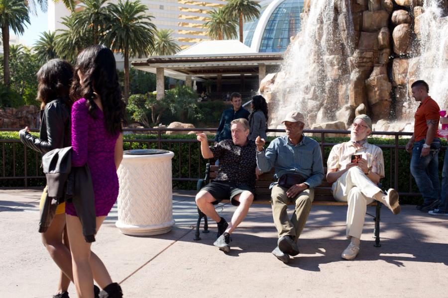 "Robert De Niro, Morgan Freeman i Kevin Kline w ""Last Vegas"""