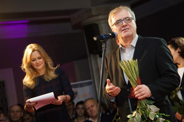 """Grażyna Torbicka i Jacek Bromski na premierze filmu """"Bilet na księżyc"""""""