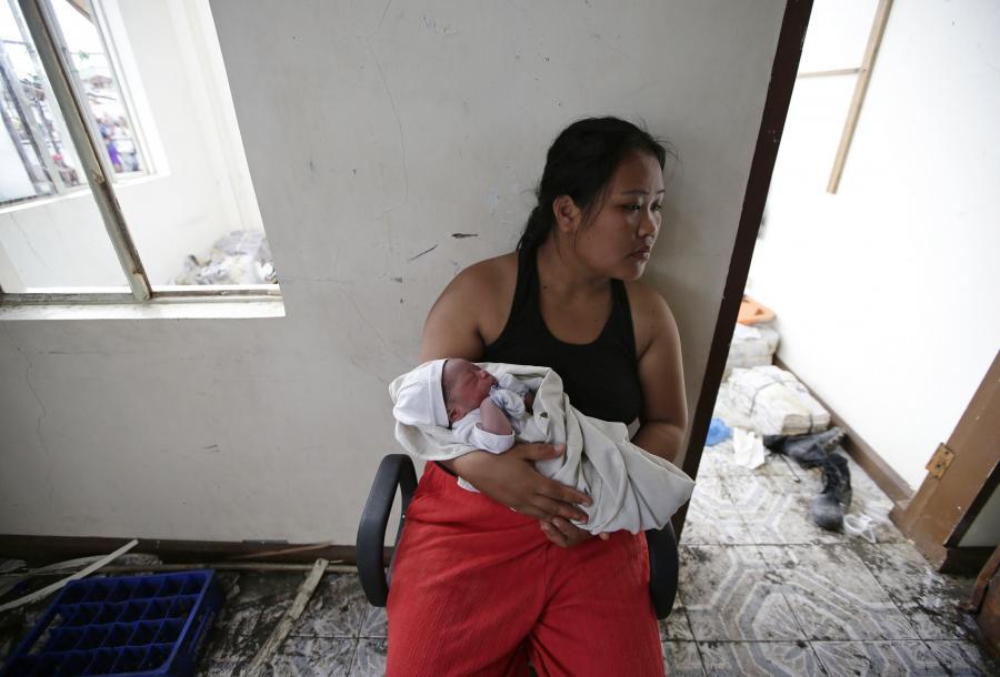 Dziewczynka urodzona tuż po katakliźmie