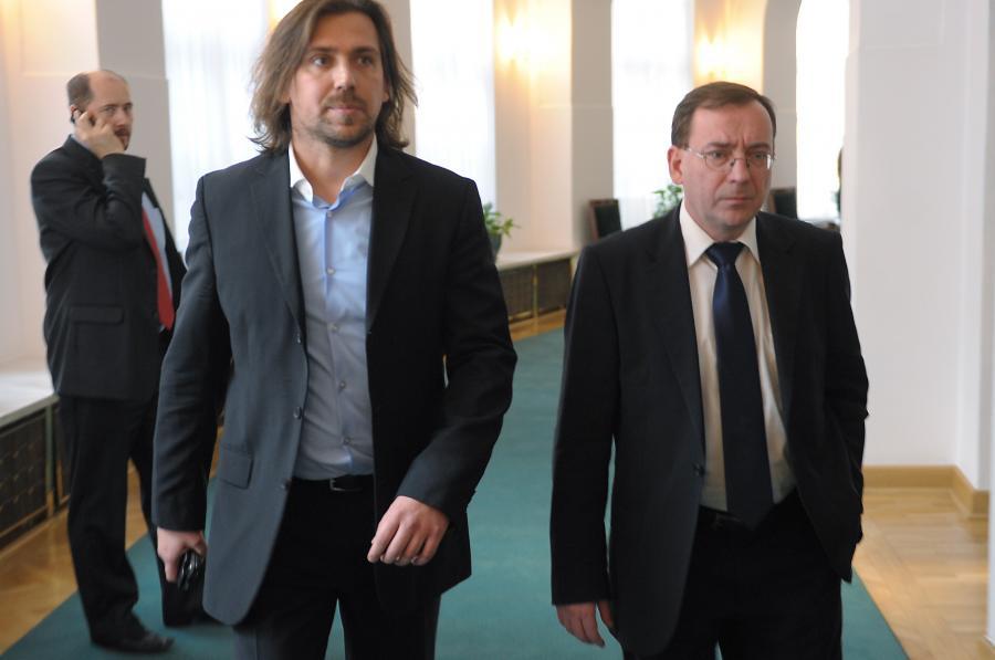 Tomasz Kaczmarek i Mariusz Kamiński w Sejmie