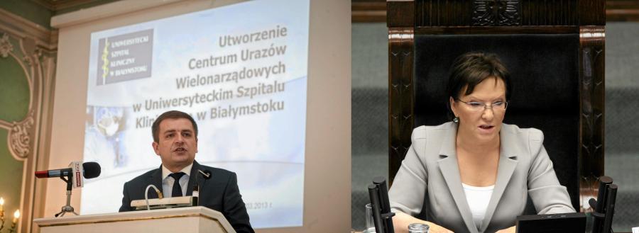 Bartosz Arłukowicz i Ewa Kopacz