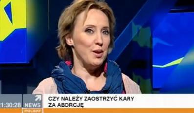 Katarzyna Bratkowska w programie Polsat News