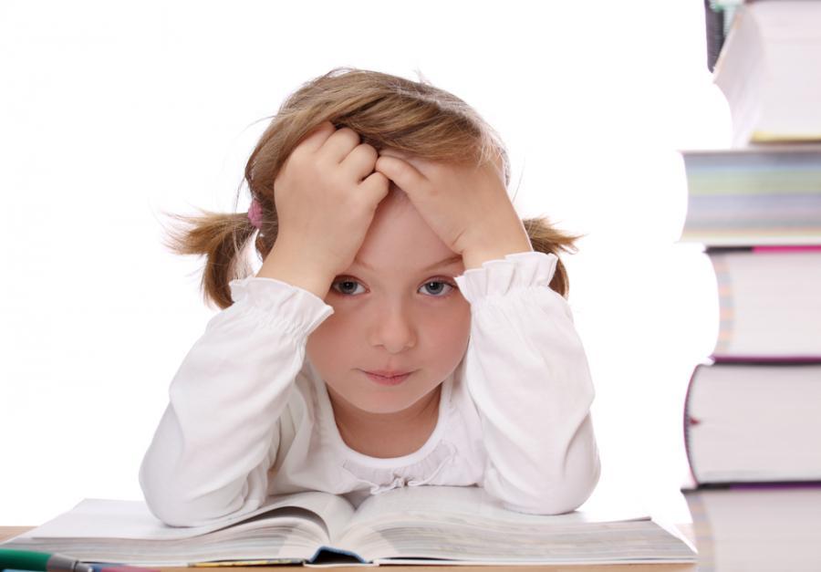Dziewczynka wśród książek