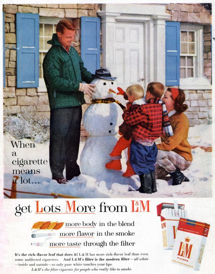 """Papierosy """"L&M"""", rok 1960"""
