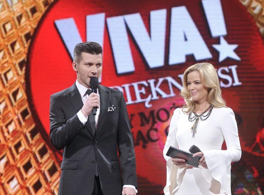Tomasz Kammel i Monika Richardson na gali Viva! Najpiękniejsi