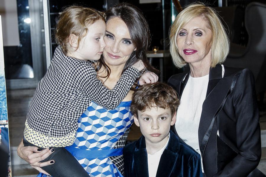 Grażyna Kulczyk i Dominika Kulczyk z dziećmi